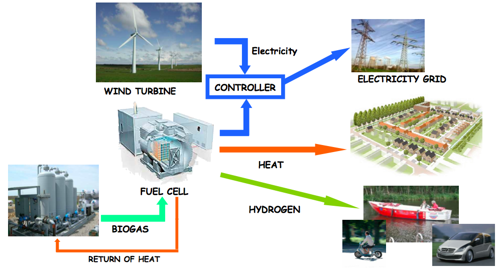 Schematic representation of the superwind concept